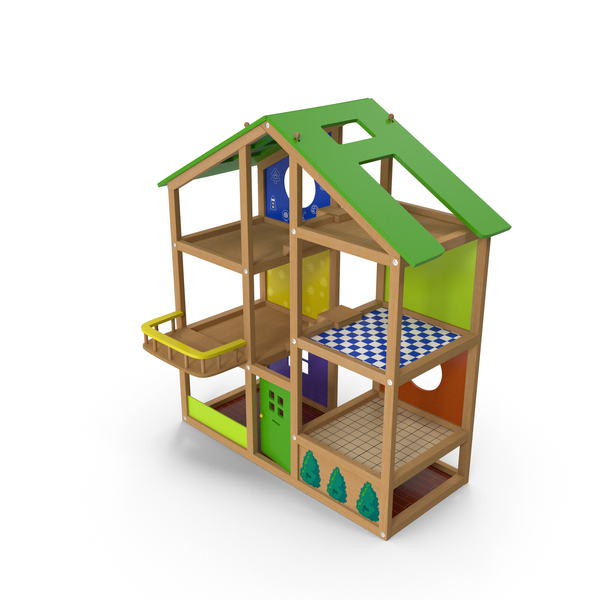 Wooden Dollhouse PNG & PSD Images
