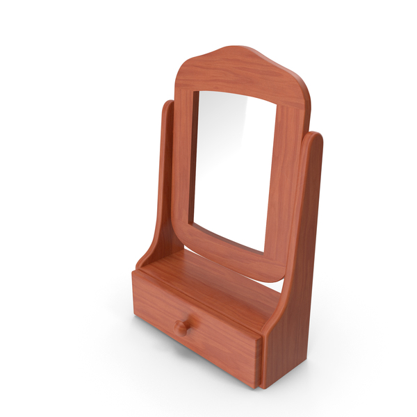 Wooden Dressing Table Mirror PNG & PSD Images
