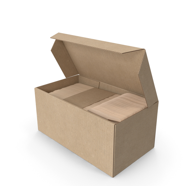 Tableware: Wooden Forks in a Box PNG & PSD Images