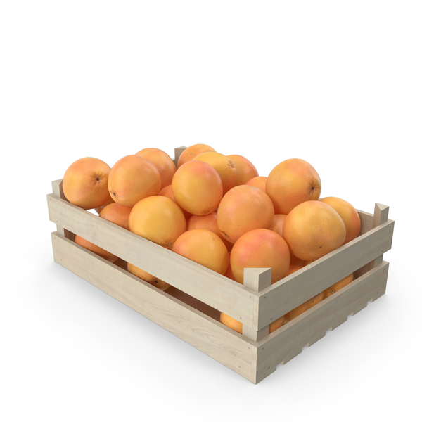 Wooden Grapefruit Crate PNG & PSD Images