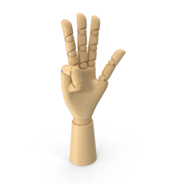 Art Mannequin: Wooden Hand PNG & PSD Images