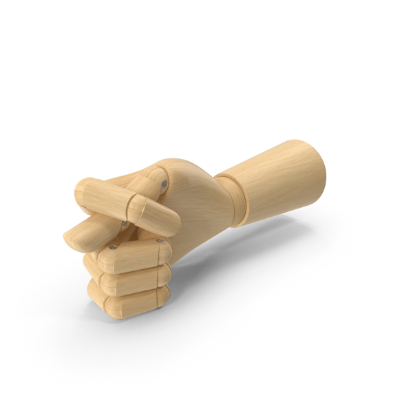 Wooden Hand Fig Gesture PNG & PSD Images