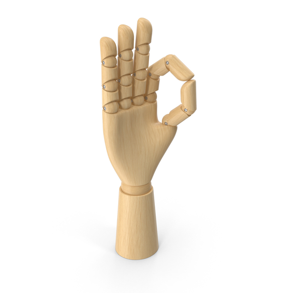 Wooden Hand OK PNG & PSD Images