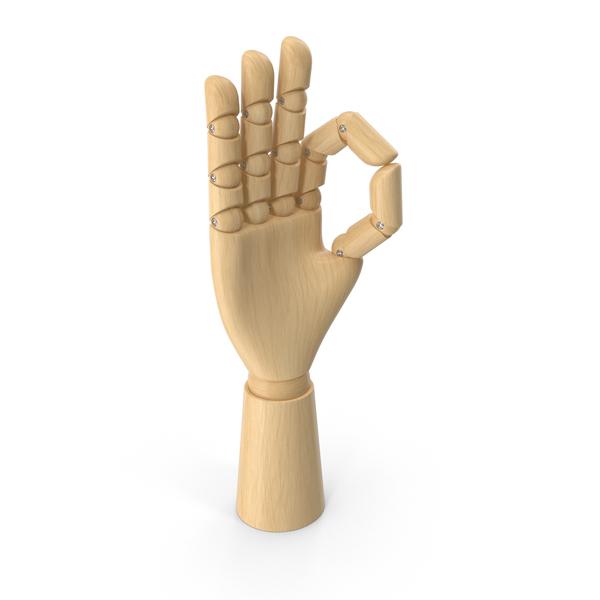 Art Mannequin: Wooden Hand OK PNG & PSD Images