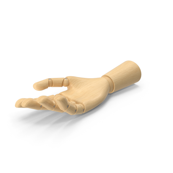 Wooden Hand Open PNG & PSD Images