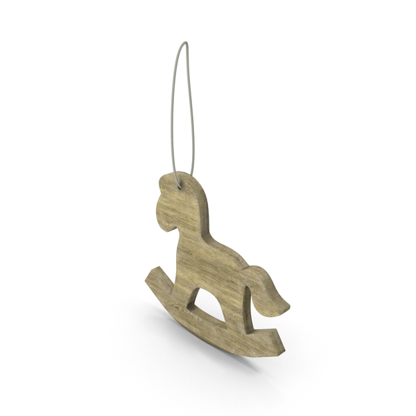 Wooden Horse Christmas Decoration PNG & PSD Images