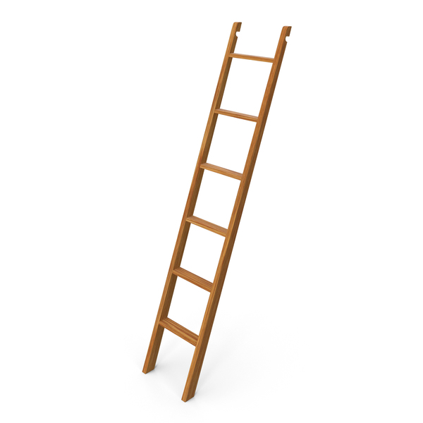Wooden Library Ladder PNG & PSD Images
