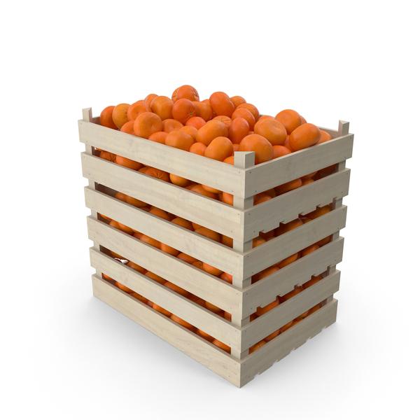 Wooden Mandarin Crates PNG & PSD Images