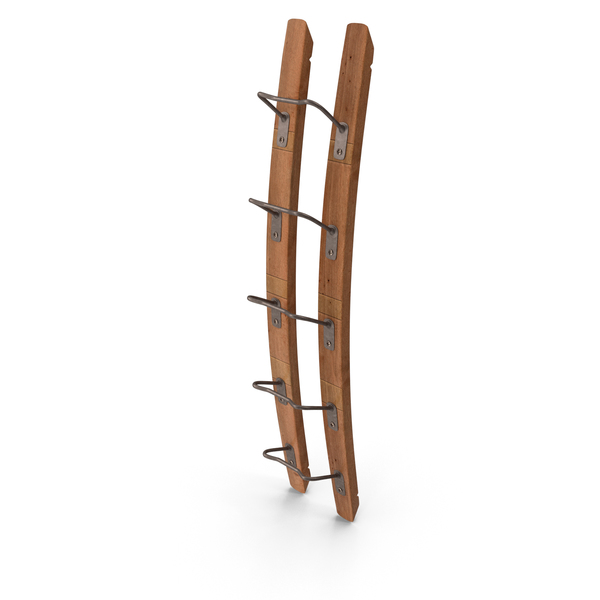 Wooden Mounted Vertical Wine Rack PNG & PSD Images