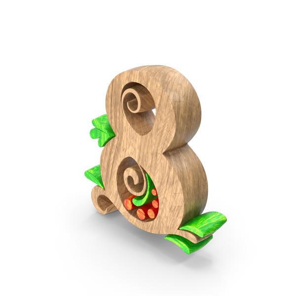 General Decor: Wooden Number 8 PNG & PSD Images