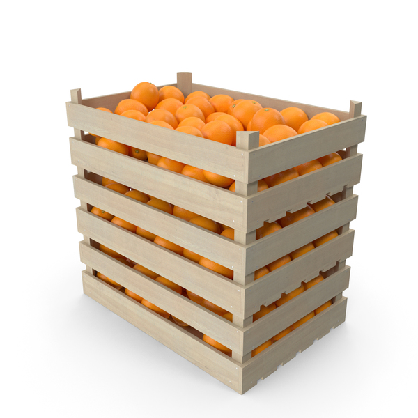 Fruit: Wooden Orange Crates PNG & PSD Images