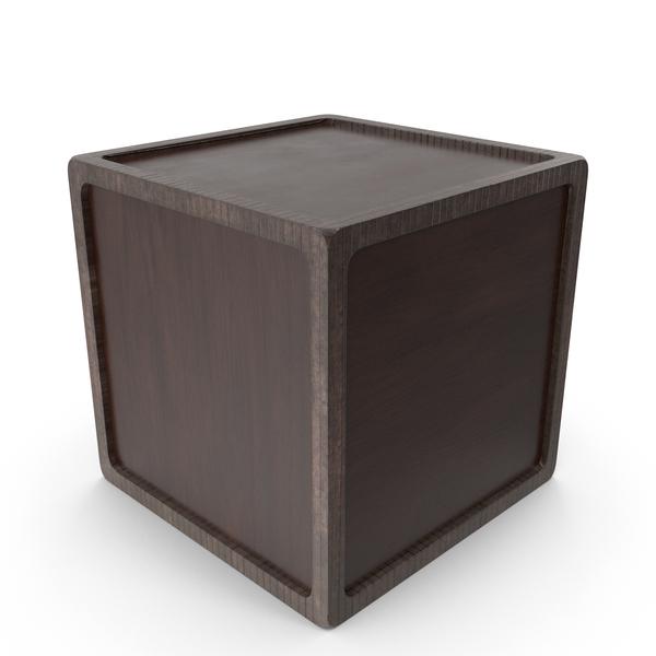 Cube: Wooden Plain Box PNG & PSD Images