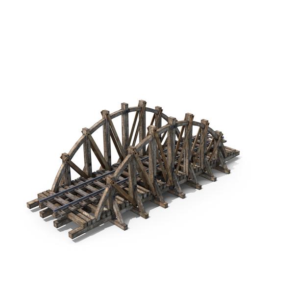 Wooden Railway Bridge PNG & PSD Images