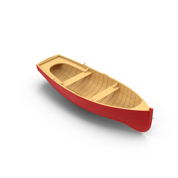 Rowboat: Wooden Row Boat Object