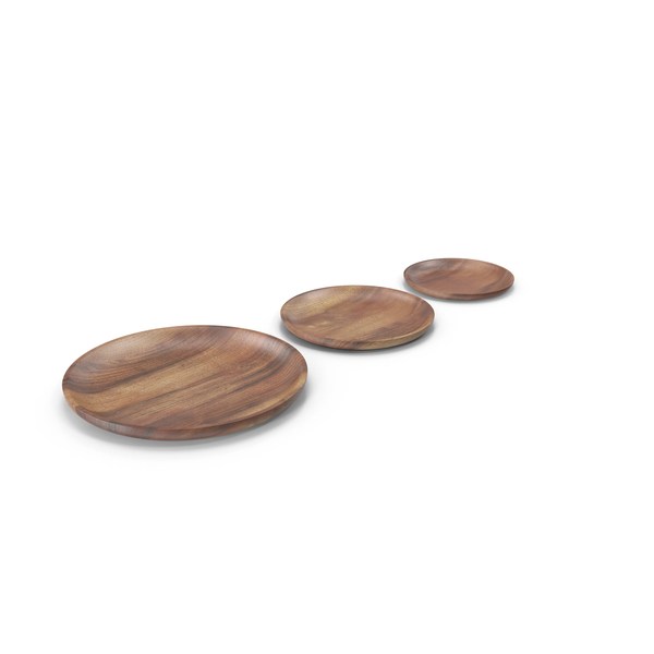 Dinner: Wooden Serving Plate PNG & PSD Images