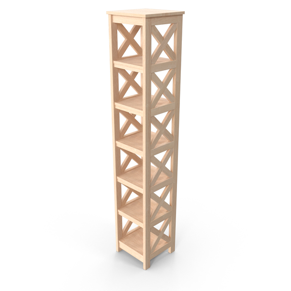 Wooden Shelving Unit PNG & PSD Images