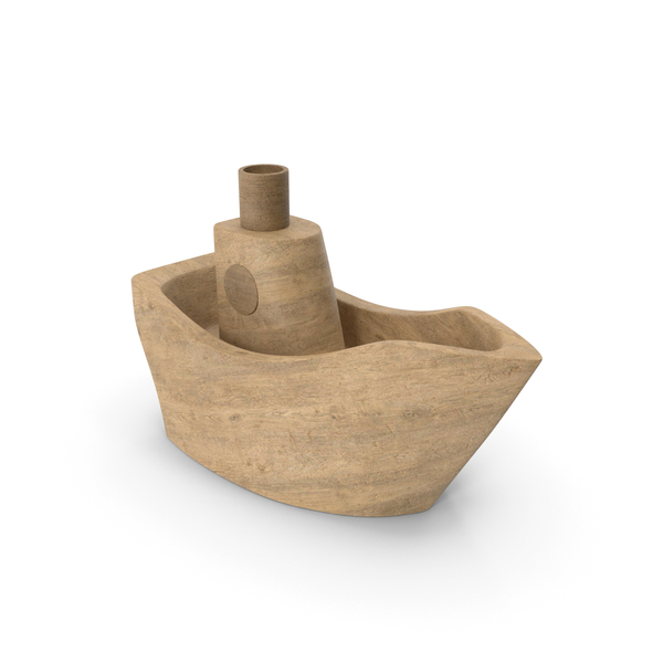 Toy Boat: Wooden Ship PNG & PSD Images