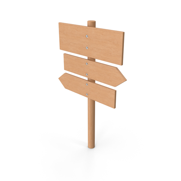 Wooden Sign Post PNG & PSD Images