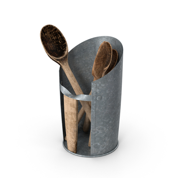 Spoon: Wooden Spoons in Holder PNG & PSD Images