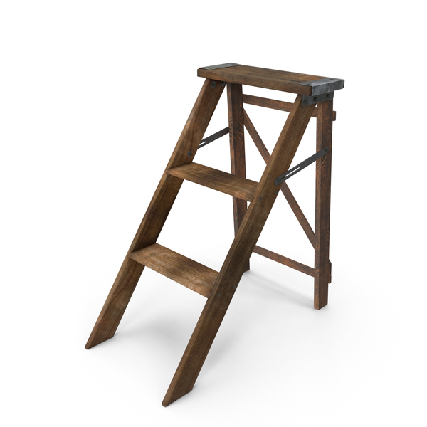 Wooden Step Ladder PNG & PSD Images