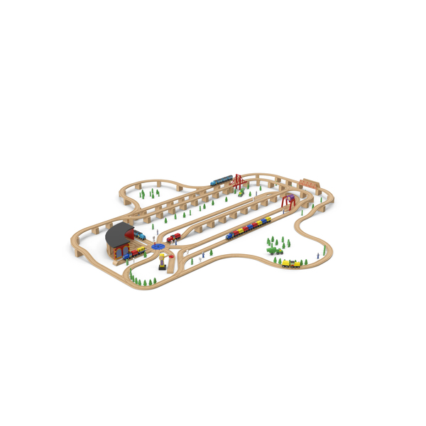 Train: Wooden Toy Railway PNG & PSD Images