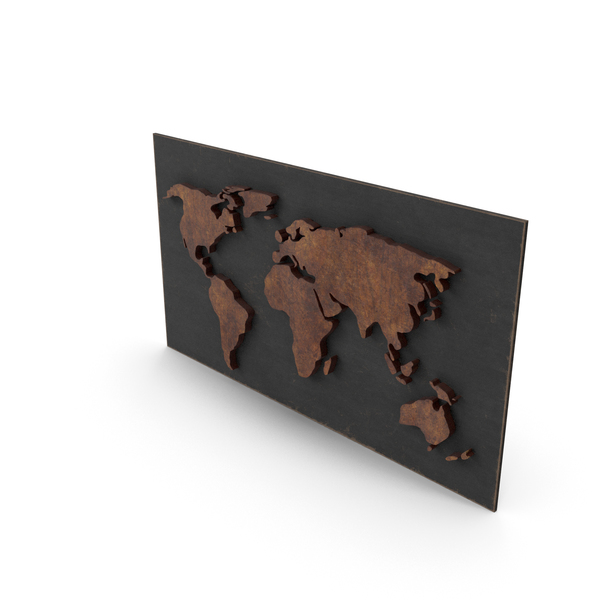 Wooden World Map PNG & PSD Images