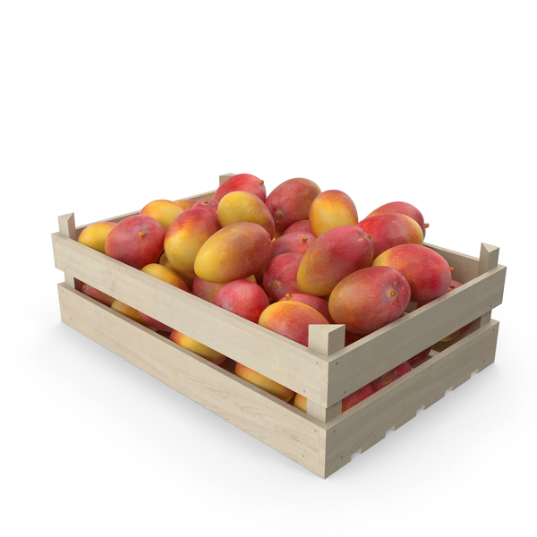 Wooden Yellow Mango Crate PNG & PSD Images