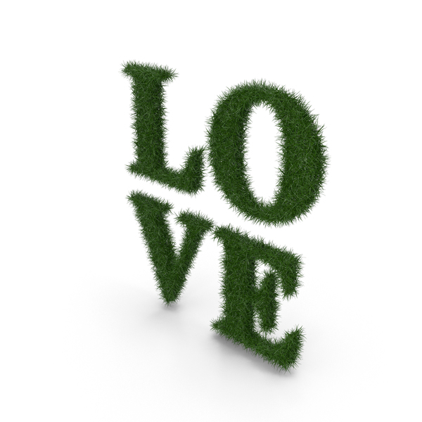 Word Grass Love PNG & PSD Images