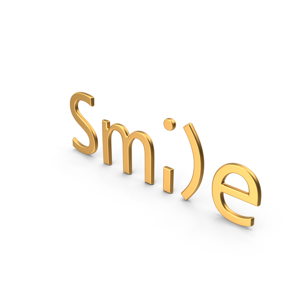 Language: Word Smile Gold PNG & PSD Images