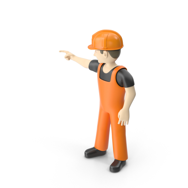 Worker Pointing Pose PNG & PSD Images