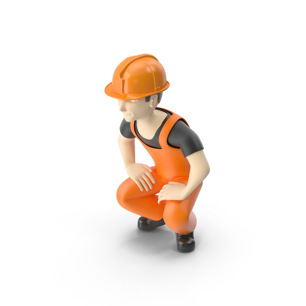 Worker Squat PNG & PSD Images