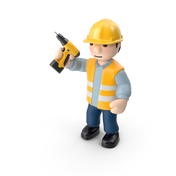 Cartoon Man: Worker with Screwdriver PNG & PSD Images