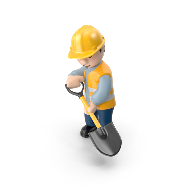 Worker with Shovel PNG & PSD Images