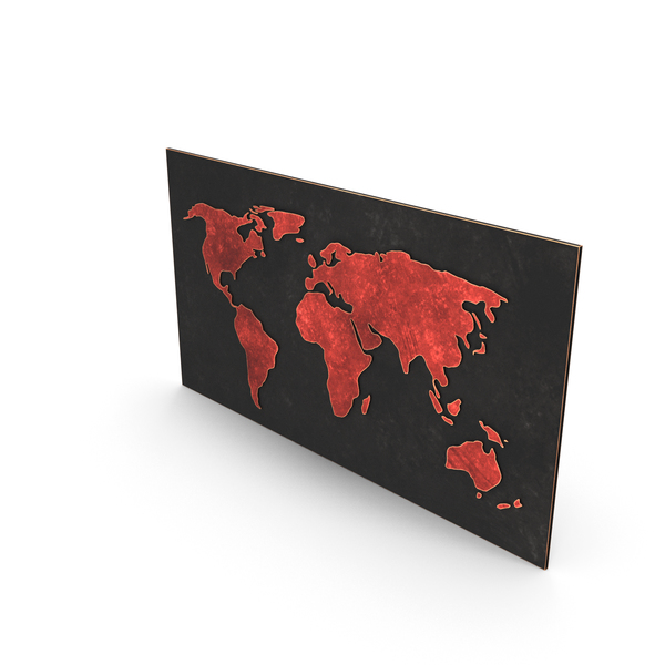 Wall Hanger: World Map PNG & PSD Images