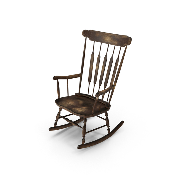 Worn Rocking Chair Object