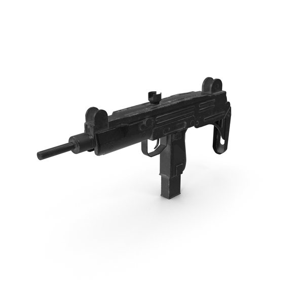 Worn Submachine Gun PNG & PSD Images
