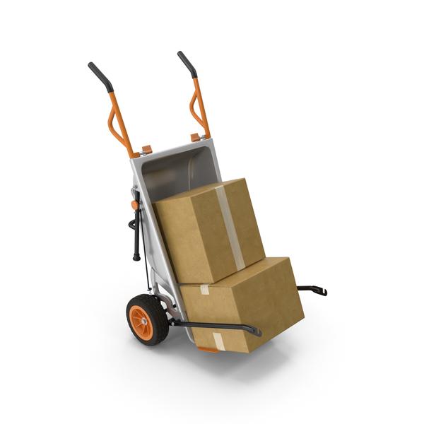 WORX Aerocart Cart with Cardboard Box PNG & PSD Images