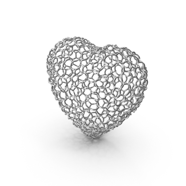 Woven Silver Heart PNG & PSD Images