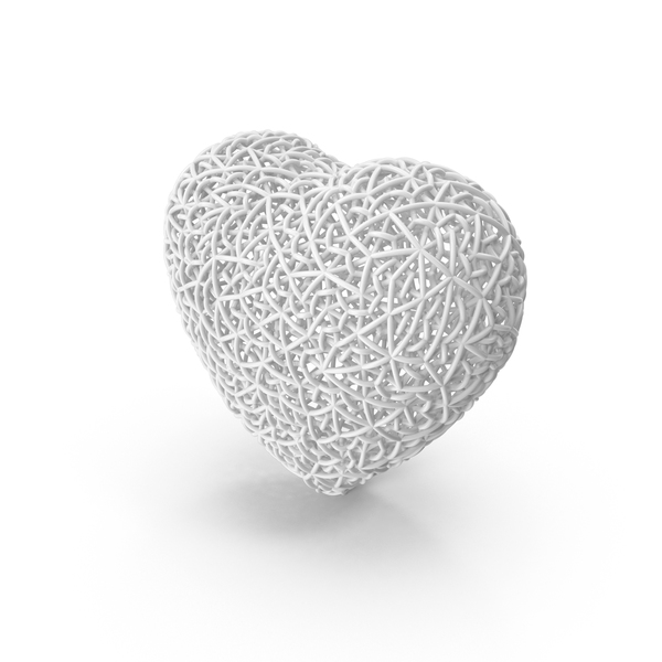 Woven White Heart PNG & PSD Images