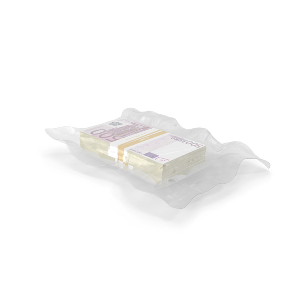 Currency: Wrapped Bills of Money 500 Euro PNG & PSD Images