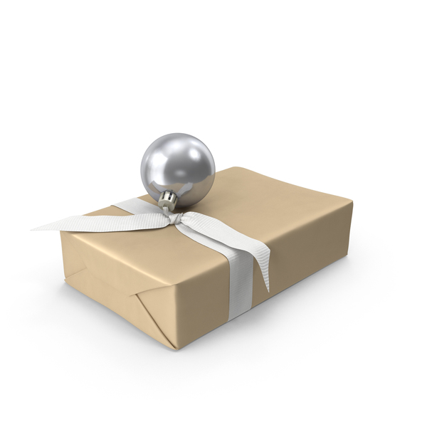 Box: Wrapped Christmas Gift PNG & PSD Images