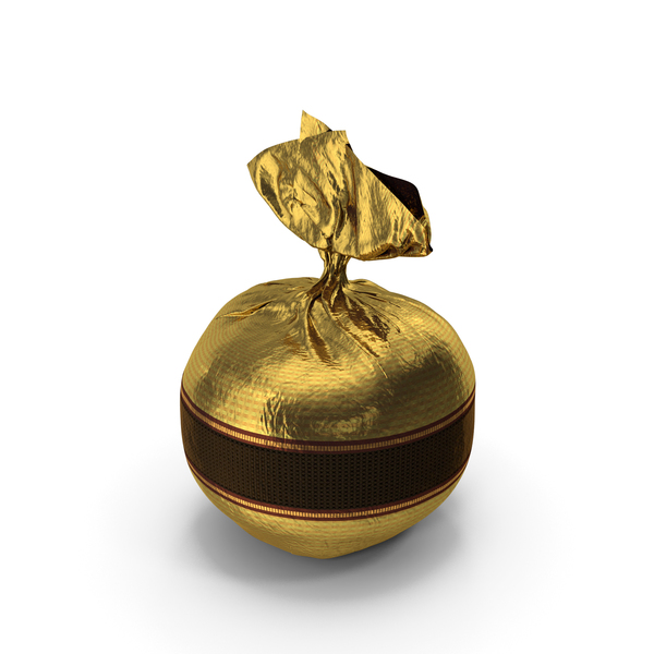 Wrapped Fancy Chocolate Bonbon Golden PNG & PSD Images
