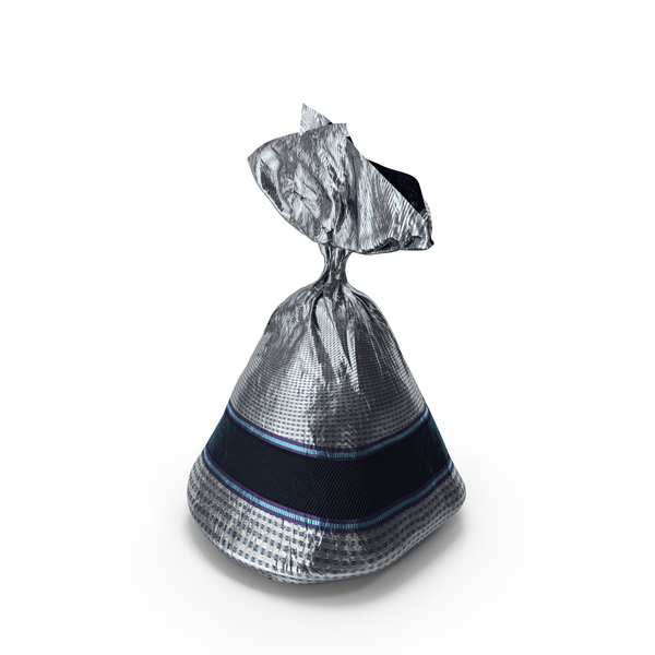 Candy: Wrapped Fancy Chocolate Bonbon Silver PNG & PSD Images