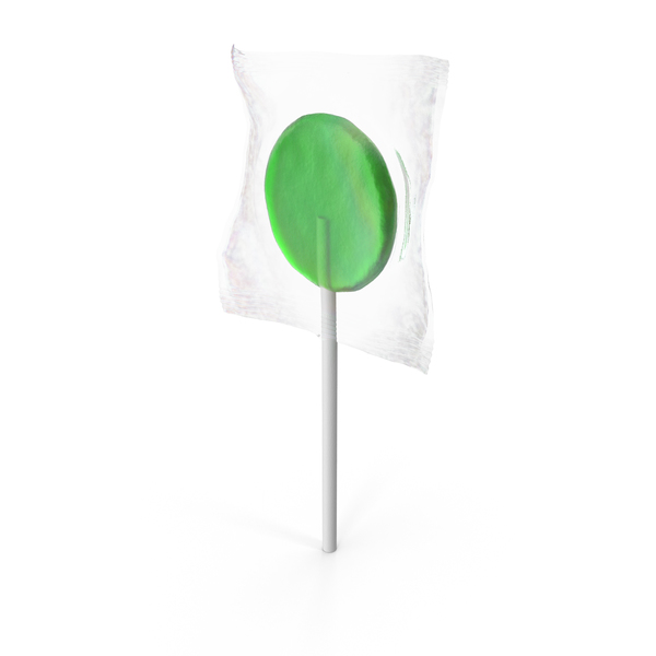 Wrapped Flat Lollipop Green PNG & PSD Images