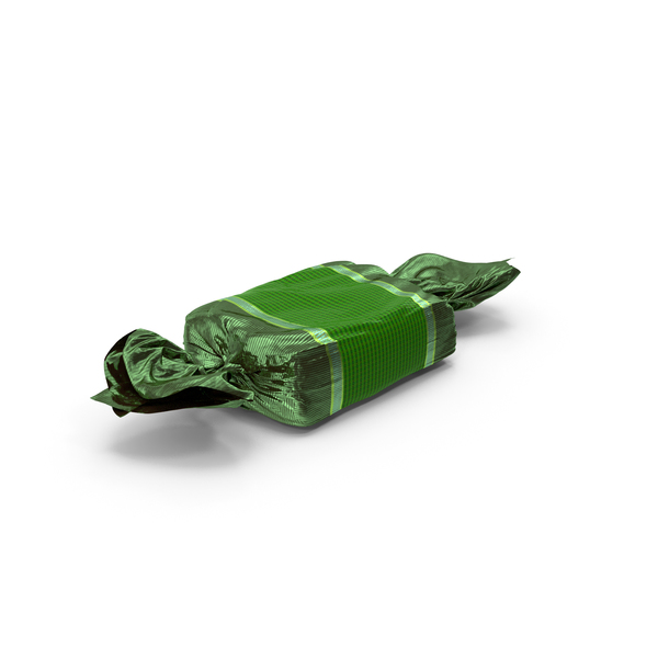 Wrapped Green Toffee Candy PNG & PSD Images
