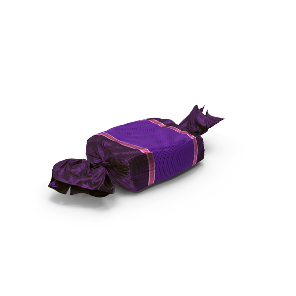 Wrapped Purple Toffee Candy PNG & PSD Images