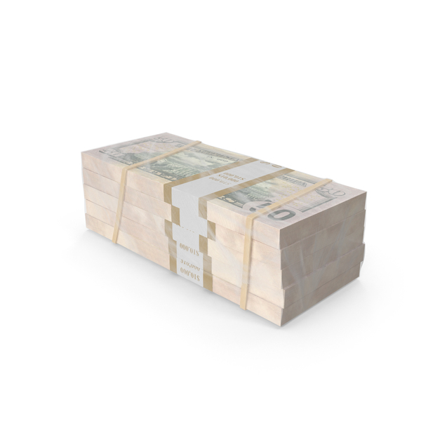 Wrapped Stack of Dollar Bills PNG & PSD Images