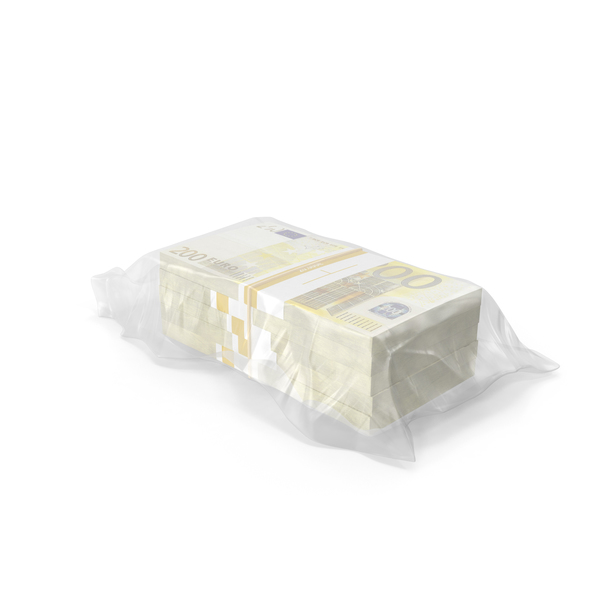 Currency: Wrapped Stack of Euros Object
