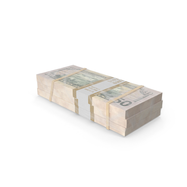 Currency: Wrapped Stack of Money Object