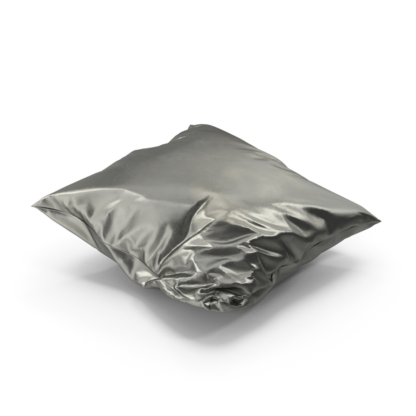 Bed: Wrinkly Pillow Metallic PNG & PSD Images